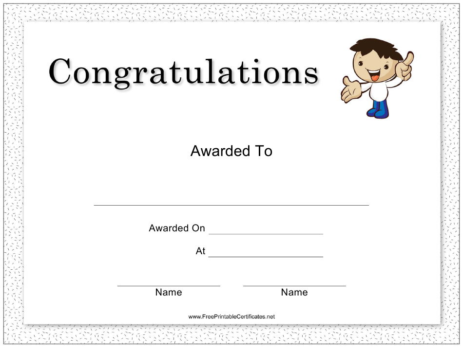 Congratulations Certificate Template Download Printable intended for Quality Congratulations Certificate Templates