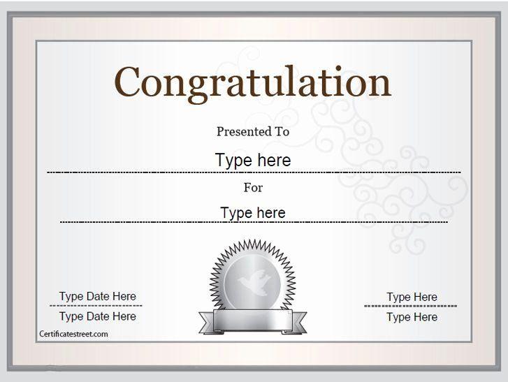 Congratulations Certificate Template Microsoft Word Fresh within Congratulations Certificate Word Template