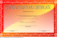 Congratulations Certificate Templates 10 Latest Designs within Awesome Certificate Templates For Word Free Downloads