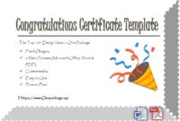 Congratulations Certificate Word Template  Creative with Awesome Certificate Templates For Word Free Downloads