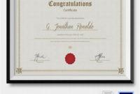 Congratulations Certificate Word Template In 2020  Gift with regard to Congratulations Certificate Word Template