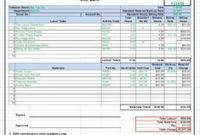 Construction Cost Estimate Breakdown The Form Allows A for Web Design Cost Estimate Template
