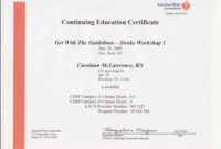 Continuing Education Certificate Template 7  Best inside Ceu Certificate Template