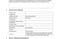 Continuing Education Certificate Template  Carlynstudio with regard to Best Continuing Education Certificate Template