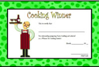 Cooking Competition Certificate Templates  7 Best Ideas pertaining to 10 Science Fair Winner Certificate Template Ideas