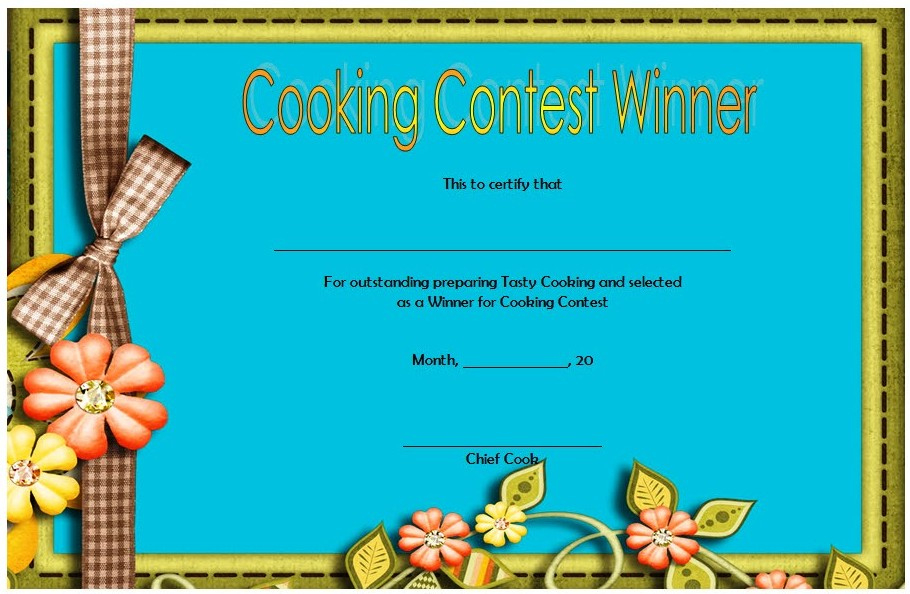 Cooking Competition Certificate Templates  7 Best Ideas with Drawing Competition Certificate Template 7 Designs