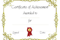 Copy8Ofcertificateofachievement 960×720 regarding Printable Free Art Award Certificate Templates Editable
