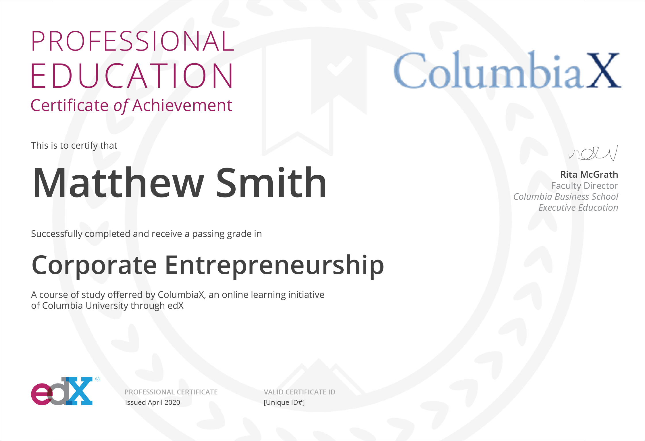 Corporate Entrepreneurship  Professional Education pertaining to Social Studies Certificate Templates