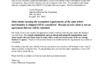 Costco Tax Exempt  Fill Out And Sign Printable Pdf intended for Best Resale Certificate Request Letter Template
