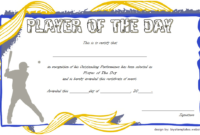 Cricket Player Of The Day Certificate Template Free with regard to Mvp Certificate Template