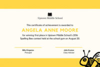 Cupcake Kid Contest Award Certificate  Templatescanva within Printable Spelling Bee Award Certificate Template