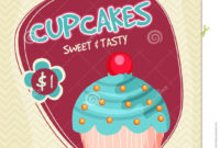 Cupcake Template Banner Flyer Or Menu Card Design Stock with Quality Cupcake Certificate Template Free 7 Sweet Designs