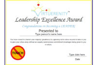 Custom Certificates  Leadership Excellence Award with Leadership Award Certificate Template