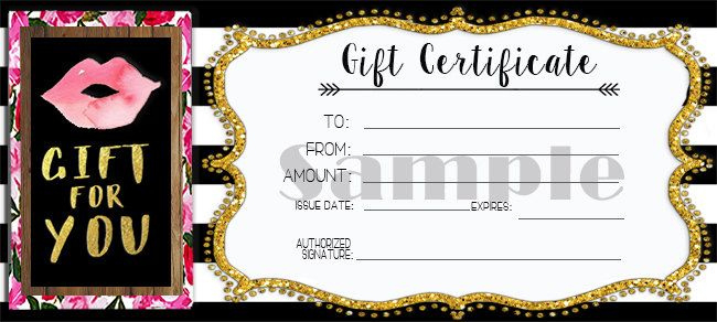 Custom Designed Gift Certificates For Lipsense with Quality Free Printable Beauty Salon Gift Certificate Templates