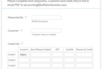 Customer Credit Request Form Template  Jotform intended for Best Customer Call Log Template