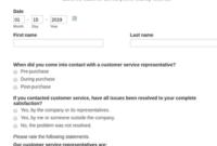 Customer Service Survey Form Template  Jotform throughout Customer Call Log Template