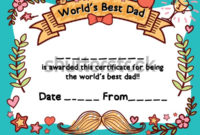 Стоковая Векторная Графика «Worlds Best Dad Award with regard to Awesome Best Dad Certificate Template