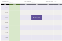 Daily Appointment Calendar Week View intended for Awesome Virtual Meeting Agenda Template