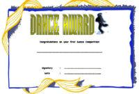 Dance Award Certificate Template  8 Best Ideas throughout Ballet Certificate Template