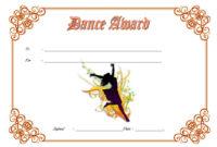 Dance Award Certificate Template  8 Best Ideas within Ballet Certificate Template