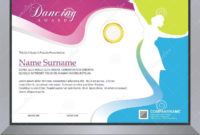 Dancing Certificate Stock Vector Illustration Of Within inside Dance Award Certificate Templates