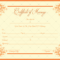 Decorative Marriage Certificate Template  For Word  Pdf with Certificate Of Marriage Template