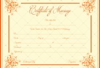 Decorative Marriage Certificate Template  For Word  Pdf with Marriage Certificate Template Word 10 Designs