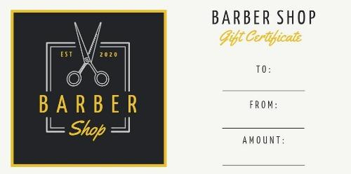 Design Your Own Barber Shop Gift Certificate with Gift Certificate Log Template