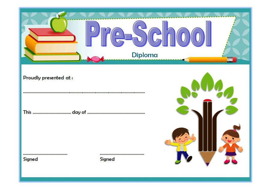 Diploma Certificate For Preschool Free Printable 1 Dengan throughout Amazing Preschool Graduation Certificate Free Printable