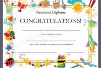 Diploma/Certificate For Preschool Or Daycare Printable throughout Baby Shower Game Winner Certificate Templates