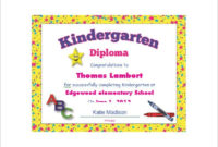 Diploma Certificate Template  25 Free Word Pdf Psd for Kindergarten Completion Certificate Templates