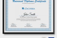 Diploma Certificate Template  26 Free Word Pdf Psd pertaining to Landscape Certificate Templates