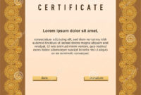 Diploma/Certificate Template With Floral/Geometric Spiral for Certificate Template Size