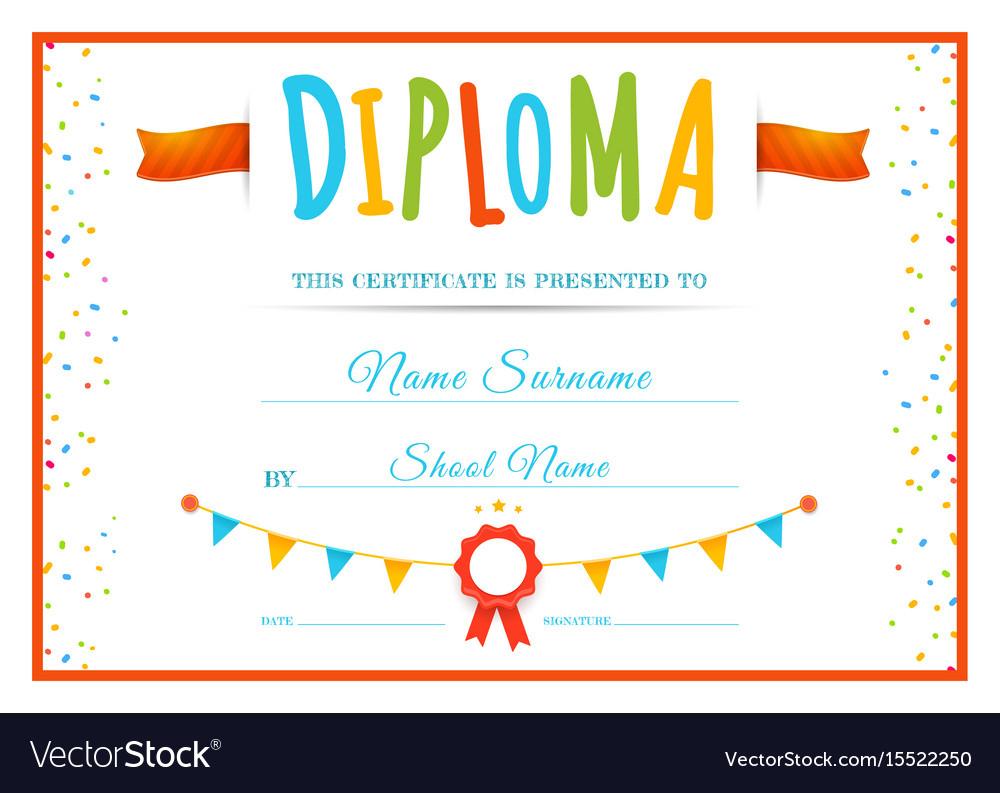 Diploma Template For Kids Inside Preschool Graduation intended for Preschool Graduation Certificate Template Free