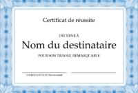 Diplôme De Récompense Élèves Du Primaire pertaining to Quality Felicitation Certificate Template