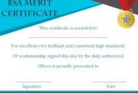 District Award Of Merit Certificate Template 10 Free And intended for Best Merit Award Certificate Templates