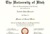Doctorate Degree Certificate Template  Calepmidnightpig with University Graduation Certificate Template