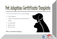 Dog Adoption Certificate Free Printable 7 Lovely Ideas intended for Service Dog Certificate Template Free 7 Designs