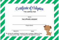 Dog Adoption Certificate Template Free Luxury Puppy Party within Awesome Rabbit Adoption Certificate Template 6 Ideas Free