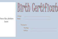 Dog Birth Certificate Template Editable 9 Designs Free within Amazing Dog Training Certificate Template Free 10 Best