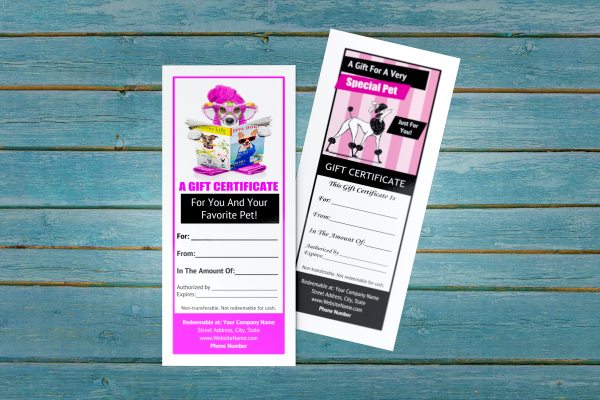 Dog Grooming Gift Certificate Templates regarding Printable Service Dog Certificate Template Free 7 Designs