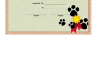 Dog Show Certificate Printable Pdf Download pertaining to Dog Training Certificate Template