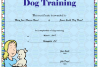 Dog Training Certificate Printable Certificate within Dog Obedience Certificate Templates