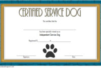 Dog Training Certificate Template 10 Latest Designs Free inside Template For Training Certificate