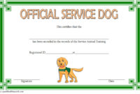 Dog Training Certificate Template 10 Latest Designs Free intended for Free 10 Fitness Gift Certificate Template Ideas