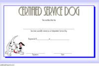 Dog Training Certificate Template 10 Latest Designs Free regarding Best Workshop Certificate Template
