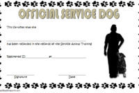 Dog Training Certificate Template 10 Latest Designs Free with regard to Awesome Dog Obedience Certificate Templates