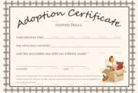 Doll Adoption Certificate Design Template In Psd Word with regard to Awesome Child Adoption Certificate Template Editable