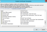 Domain Controller Authentication Certificate Template Not in Workstation Authentication Certificate Template