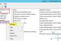 Domain Controller Kerberos Authentication Certificate pertaining to Domain Controller Certificate Template